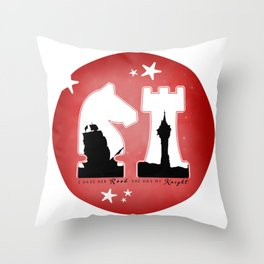 KNIGHT ROOK (Red) Throw Pillow