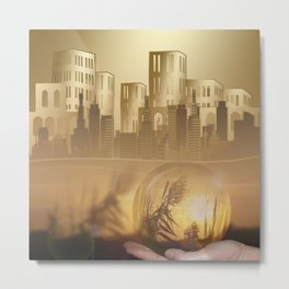Ideas create innovation leading to civilization Metal Print