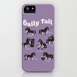 The Daily Tail Horse iPhone Case
