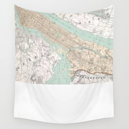 Vintage Map of New York City (1895) Wall Tapestry
