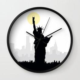 Drunk Liberty Wall Clock