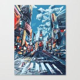 new york city-times square urban art Canvas Print