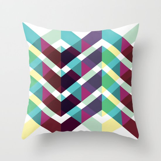 Zig Zag Pattern Throw Pillow