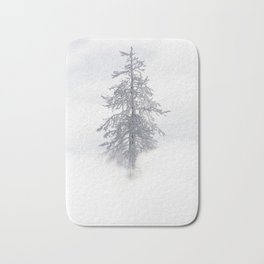 Yellowstone National Park - Ice Covered Tree Bath Mat
