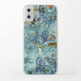 Cellular (Blue) Clear iPhone Case