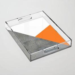 Concrete Tangerine White Acrylic Tray