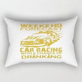 WEEKEND FORECAST CAR RACING Rectangular Pillow