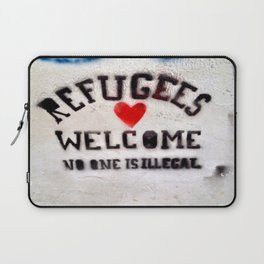 Refugees Welcome Laptop Sleeve