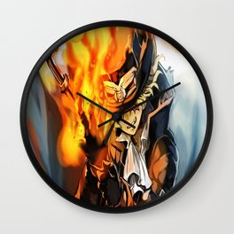 the power of fire on sabo Wall Clock