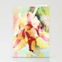 water colour Stationery Cards featuring Water colour parrot tulip by thea walstra
