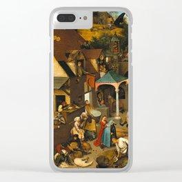 Netherlandish Proverbs (Nederlandse Spreekwoorden) Clear iPhone Case