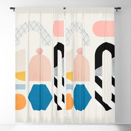 Abstraction_Shapes Blackout Curtain