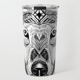 Bohemian Celestial Wolf Travel Mug