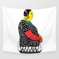 fat Wall Tapestries featuring Fat Woman by R. Gorkem Gul