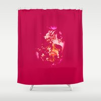 ruby Shower Curtains featuring Ruby by The Rogue Iris