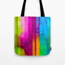 Vertical Rainbow Color Palette Tote Bag
