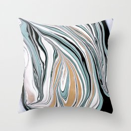 Teal Scape Throw Pillow