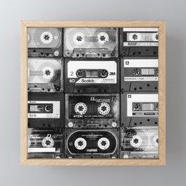 Something Nostalgic - black and white #decor #buyart #society6 Framed Mini Art Print