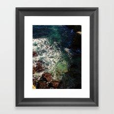 shore cliffs Framed Art Print