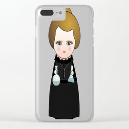 Kokeshi Marie Curie Clear iPhone Case