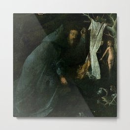 "Hieronymus Bosch ""Hermit Saints Triptych"" - Saint Anthony the Abbot Metal Print"