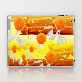 golden daisies pattern Laptop & iPad Skin