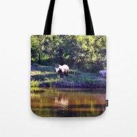 rhino Tote Bags featuring Rhino  by Art-Motiva