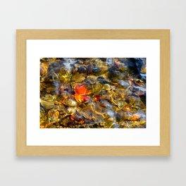 Sunken Leaf Framed Art Print