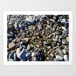 Sea Glass in Nice, France Art Print