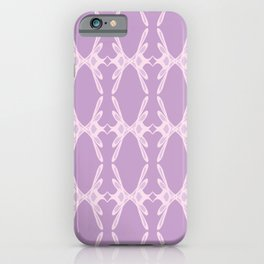 Feminine Script Letter K Pattern iPhone Case
