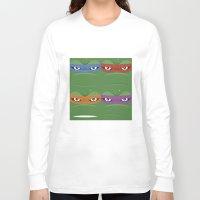 teenage mutant ninja turtles Long Sleeve T-shirts featuring Teenage Mutant Ninja Turtles - TMNT by Alex Patterson AKA frigopie76