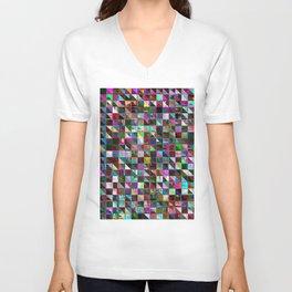 glitch color pattern Unisex V-Neck