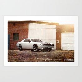 Dodge Challenger SRT8 Art Print