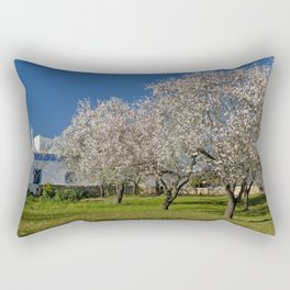 An Algarve almond orchard in Spring Rectangular Pillow