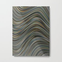 MAGS multi-colour layers create a giant wave Metal Print