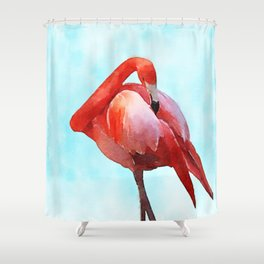 Caribbean Flamingo Shower Curtain