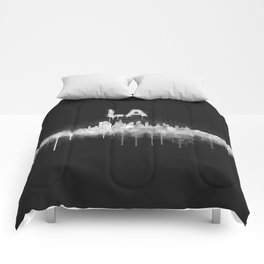 Los Angeles City Skyline HQ v5 WB Comforters