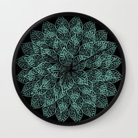 emerald Wall Clocks featuring emerald by Sproot