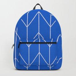 Blue Geometric Design Backpack
