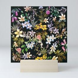 Flowers with Hidden Pot Leaves Mini Art Print