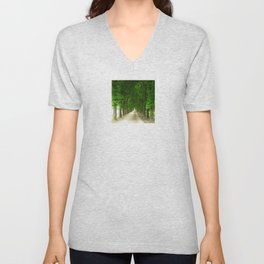 The gardens of the castle of Fontainebleau Unisex V-Neck