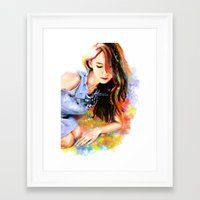 snsd Framed Art Prints featuring The Midas Touch by Kimberly Phan