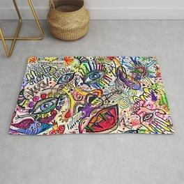 Watercolor pencil doodle Rug