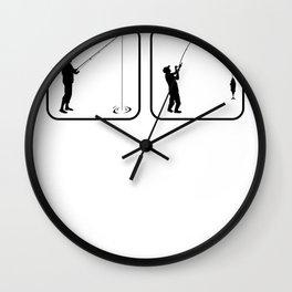 angler saying funny fishing motive fishing holiday Wall Clock