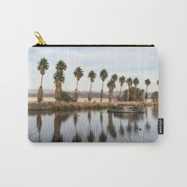 California Lake Lined Palm Tree Photograph Carry-All Pouch