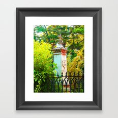 Behind The Gate Framed Art Print