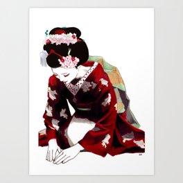 Geisha 2 Art Print