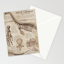 """Loch Ness Monster: """"The Living Plesiosaurus"""" - The lost notebook account Stationery Cards"""
