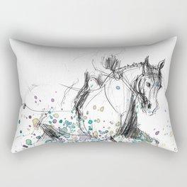 Horse (Rainy canter) Rectangular Pillow