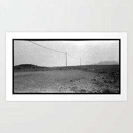 A line in the Desert Art Print